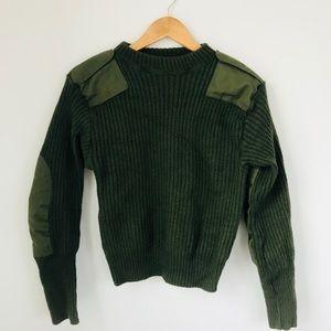 Sweaters - Green Military Wool Sweater